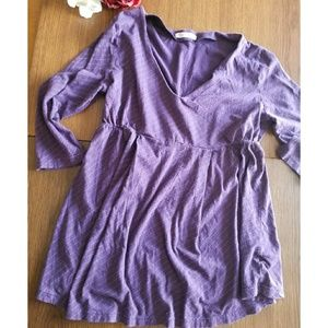 Purple maternity long sleeve shirt | old navy
